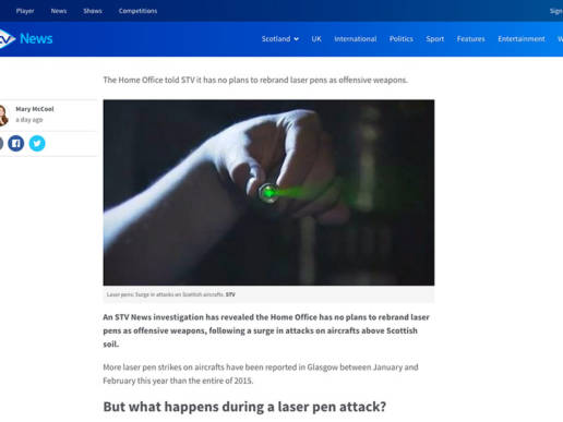 Laser pens Could a passenger plane be brought down by a beam?