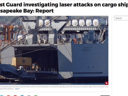 Coast Guard investigating laser attacks on cargo ships in Chesapeake Bay